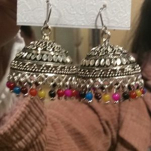 unknown Jewelry - Unique bell hanging beaded earrings.(2/$18)